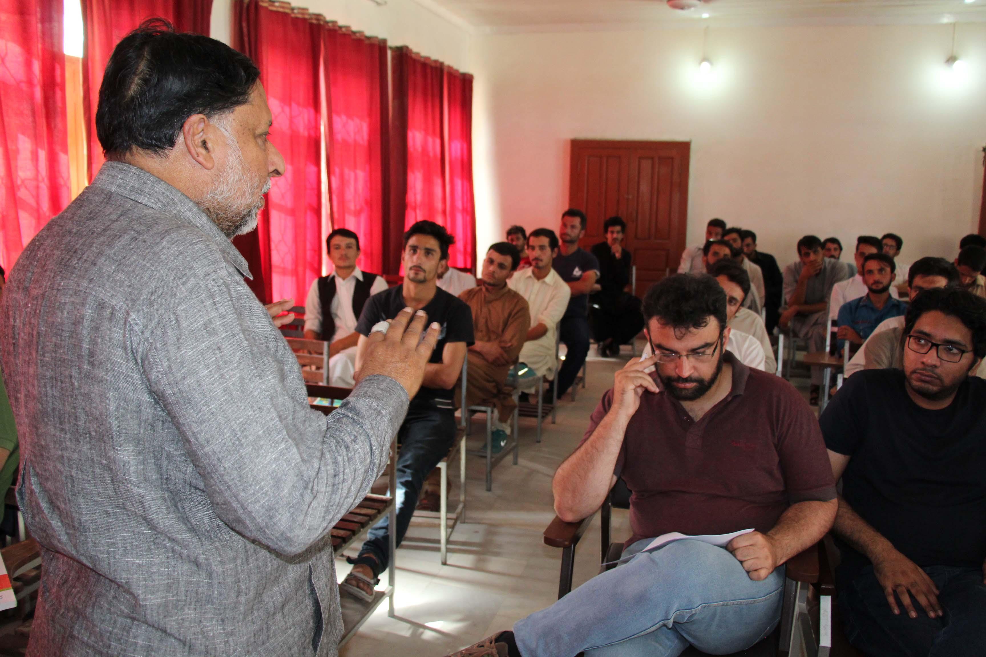 چئیرمین قومی کمیشن برائے انسانی حقوق جسٹس علی نواز چوہان کا چترال یونیورسٹی کا دورہ