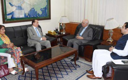 گورنر گلگت بلتستان کی ڈپٹی چیرمین سرتاج عزیز سے ملاقات، عطاآباد، ہرپو اور ہینزل پاور منصوبوں سے متعلق تبادلہ خیال
