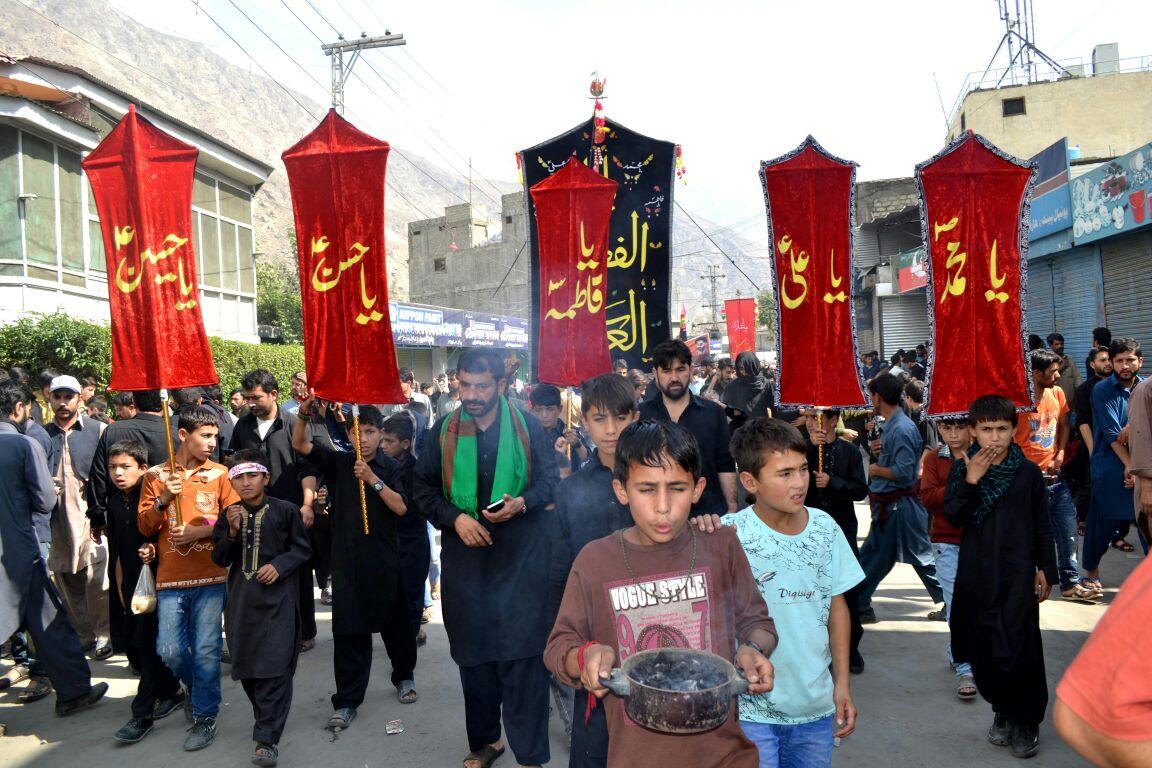 گلگت شہر میں عاشورہ کا جلوس پرامن طریقے سے اختتام پذیر، ہزاروں عزادار شریک ہوے