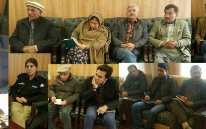 ہنزہ: ہزہائنس پرنس کریم آغاخان کے متوقع دورہ ہنزہ کے حوالے سے انتظامات کا جائزہ