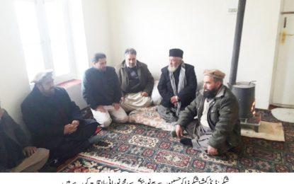 شگر: پیر طریقت نوربخشیہ سید محمد شاہ نورانی کا شگرآتشزدگی سے متاثرہ ہ مدرسے کا دورہ