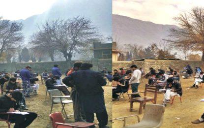 اسلامی جمعیت طلبہ کے تحت ونٹرسٹڈی کیمپ کیلئے انٹری ٹیسٹ میں سینکڑوں طلباء نے شرکت کی