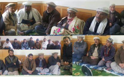 ہنزہ اسماعیلی کونسل کے نمائندہ وفد کا نگر سمائر کا دورہ،  ہزہائینس  کے دورے کے موقع پر بجلی کی فراہمی اور دیگرتعاون پہ شکریہ ادا کیا
