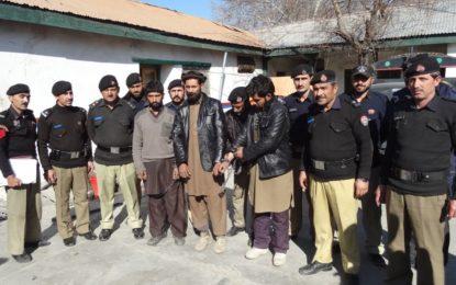 چترال پولیس نے بین الاضلاعی مویشی چوروں کا گروہ گرفتار کر لیا