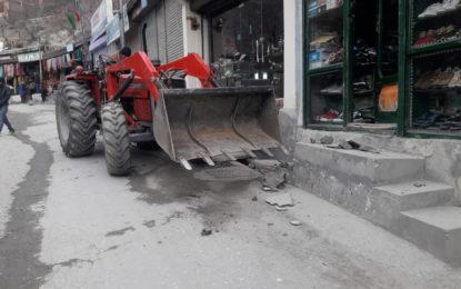 کریم آباد ہنزہ کے مرکزی بازار میںتجاوزات کے خلاف کاروائی