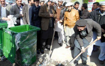 تحصیل میونسپل ایڈمنسٹریشن چترال اور ویلیج کونسلات کا شہر کو صاف رکھنے کے مشترکہ مہم کا آغاز