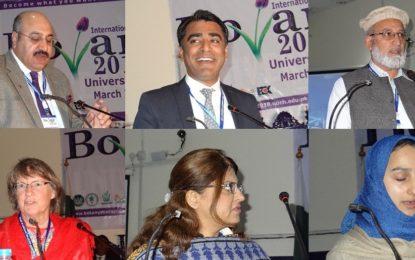 چترال یونیورسٹی میں نباتیات کا عالمی کانفرنس جاری، متعدد سائنسدان سائنسی مقالے پیش کررہے ہیں