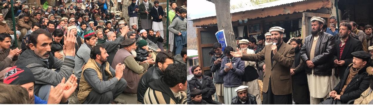 گولین گول بجلی گھر سے بجلی کے حصول کے لئے احتجاجی دھرنا، پشاور روڈ کی بندش دو دن کے لئے موخر