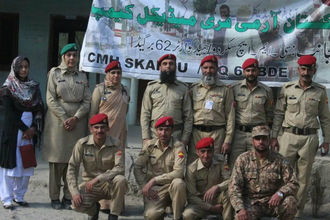 پاک فوج کے زیرِ اہتمام گلاب پور شگر میںفری میڈیکل کیمپ کا انعقاد