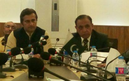 گلگت بلتستان میںعوامی خواہشات کے مطابق لینڈ ریفارمز ہونگے، وزیر تعمیرات اور وزیر قانون کا پریس کانفرنس سے خطاب