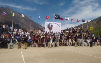 گلگت بلتستان والی بال لیگ:تیسرے روز ضلع ہنزہ اور ضلع نگر کی ٹیمیںفتحیاب