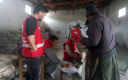ہلال احمر نے ضلع سکردو میںدو سو سے زائد مستحق خاندانوںمیںراشن تقسیم کیا