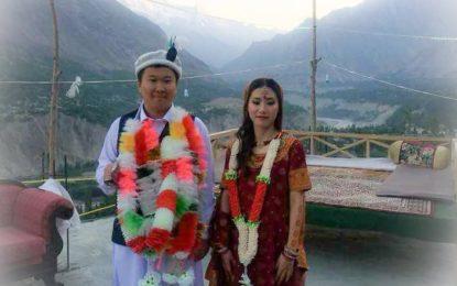 چینی جوڑے کی ہنزہ میںروایتی شادی