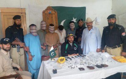 دیامر میںچرس فروشوںکا گروہ گرفتار، ایک کلو چرس اور اسلحہ برآمد