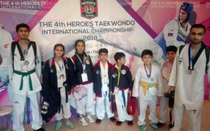 بین الاقوامی تائیکوانڈو چیمپین شپ میںگلگت بلتستان کے کھلاڑیوںکی شاندار کارکردگی، پانچ میڈلز حاصل کرنے میںکامیاب