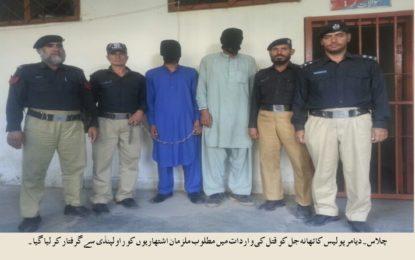 دیامر پولیس کی کاروائی، قتل کا ملزم راولپنڈی سے گرفتار
