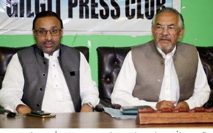 وادی چھوربٹکو سب ڈویژن بنایا جائے، رکن گلگت بلتستان کونسل سلطان علی خان کا پریس کانفرنس میںمطالبہ