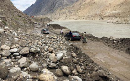 24 گھنٹے بعد گوہر آباد میںشاہراہ قراقرم ٹریفک کے لئے بحال