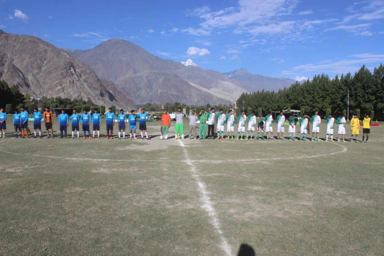 ایف سی این اے کے زیر اہتمام گلگت انٹر کلبز فٹبال ٹورنامنٹ جاری