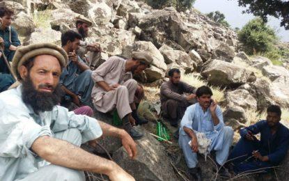 داریل تانگیر کے مقامی عمائدین مشتبہ دہشتگردوں کی تلاش میں پہاڑوںپر چڑھ گئے