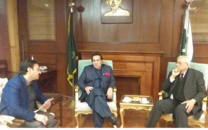 گورنر گلگت بلتستان اور اٹارنی جنرل آف پاکستان کے درمیان ریفارمزکے حوالے سے مشاورت