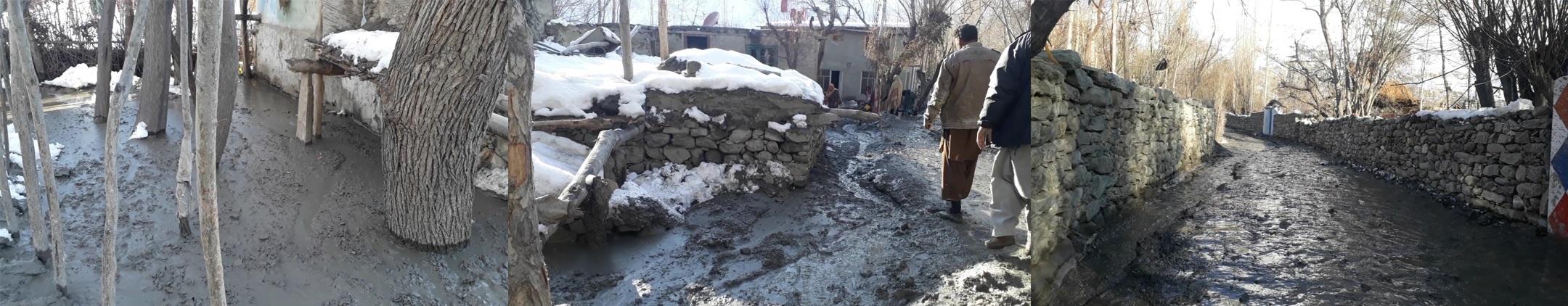 شدید برفباری کے بعد تیز دھوپ، شگر چھورکاہ کے گاوں میں سیلابی ریلہ داخل ہو گیا، علاقے میں شدید خوف و ہراس