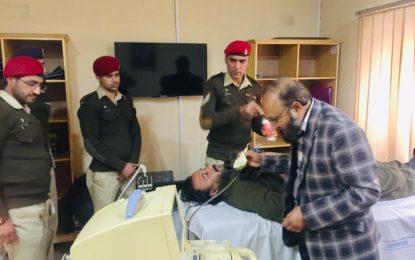 اسیرسیاسی رہنما بابا جان کاسی ایم ایچ میں طبی معائنہ کرایا گیا