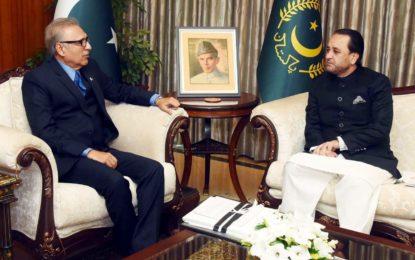 صدر پاکستان سے وزیر اعلی گلگت بلتستان کی ملاقات