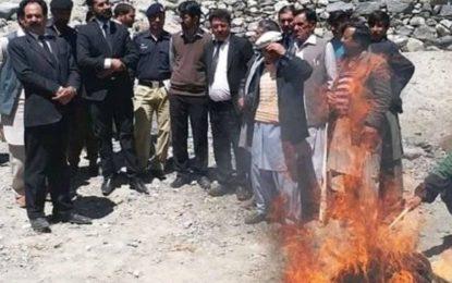 گوپس یاسین میں لاکھوں مالیت کی منشیات نذر آتش