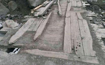 تھلتی کو نولتھی سے ملانے والا پل خستہ حالی کا شکار