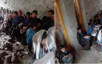 استور کے بالائی گاوں فقیر کوٹ میں تعلیم کے نام پر مذاق، سکول کی عمارت پر تالہ لگ گیا، بچے دربدر