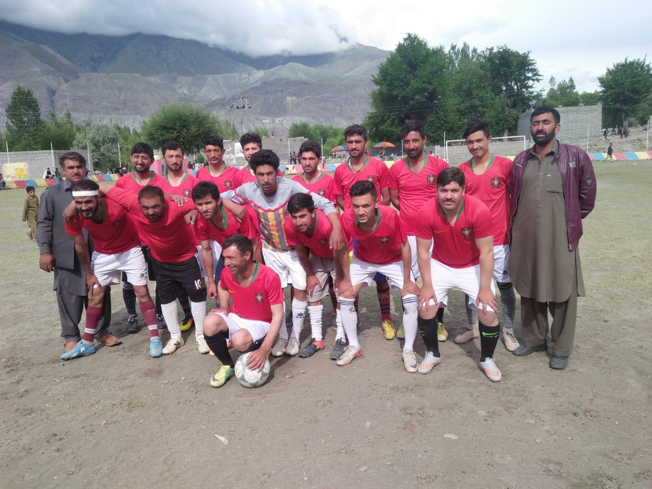 جشن بہاراں فٹبال کپ ٹورنامنٹ، یاسین الیون نے عیشی الیون کو سات گول سے شکست دے دی