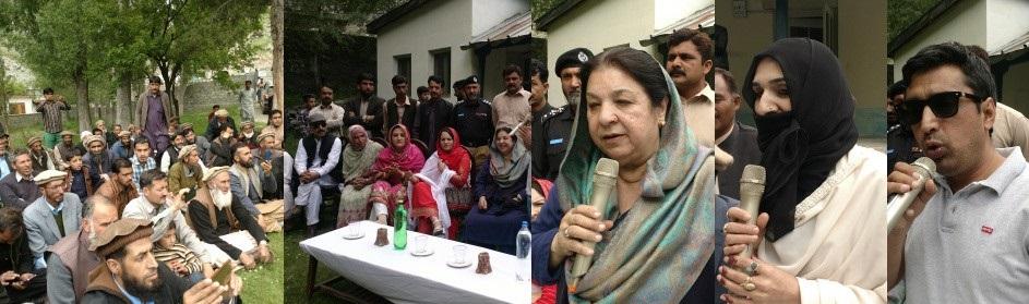 پنجاب کی وزیر صحت کا استور میں استقبال