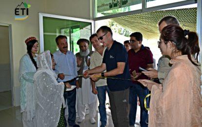 گلگت : ای ٹی آئی  کی معاونت سے دنیور میں ملک پرا سیسنگ سنٹر کا افتتاح