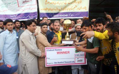 چترال ہومز کشمیر بنے گا پاکستان فٹ بال ٹورنمنٹ اختتام پذیر،گلگت کی فٹ بال ٹیم فاتح
