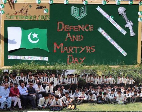 آغا خان ہائیرسکینڈری سکول گلگت میں یوم دفاع جوش و خروش کے ساتھ منایا گیا