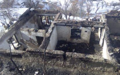 کریم آباد چترال میں آتشزدگی، گھر راکھ کا ڈھیر بن گیا