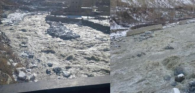 ہنزہ: ششپر گلیشر پر بننے والی جھیل سے پانی کا اخراج، حسن آباد نالے میں طغیانی کی کیفیت