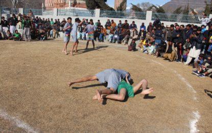 چترال میں بین الاضلاع کھیلوں کے مقابلے، اکیس سال سے کم عمر کے نوجوان مردوں نے حصہ لیا