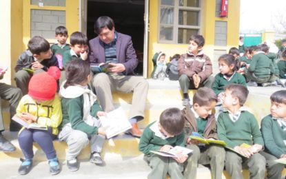 """آغا خان ڈائمنڈ جوبلی ماڈل ہائی سکول رحیم آباد گلگت میں """"بلند خوانی"""" کا عالمی دن منایا گیا"""
