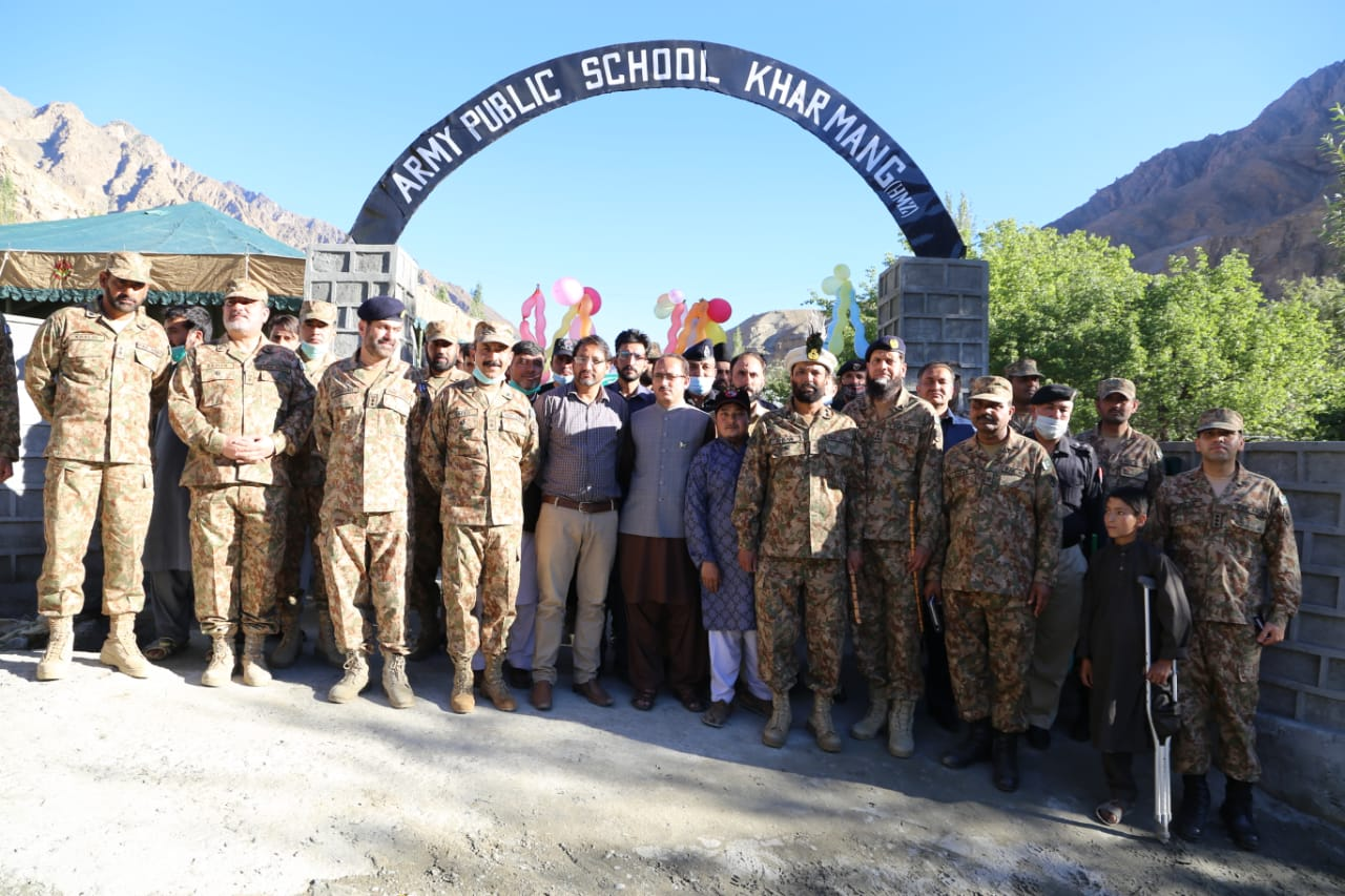 حمزی غنڈ کھرمنگ میںآرمی پبلک سکول کا افتتاح