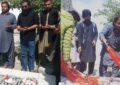 عوامی ورکرز پارٹی گلگت بلتستان کے رہنما بابا جان کا قوم پرست رہنما حیدر شاہ رضوی کو خراج تحسین، مزار پر پھول چڑھائے
